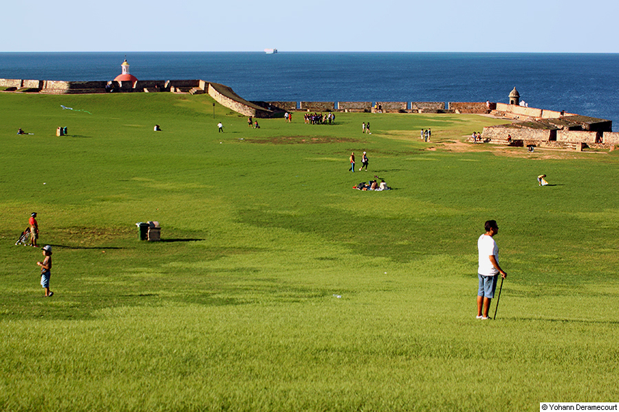 El Morro castle famous for kite flying